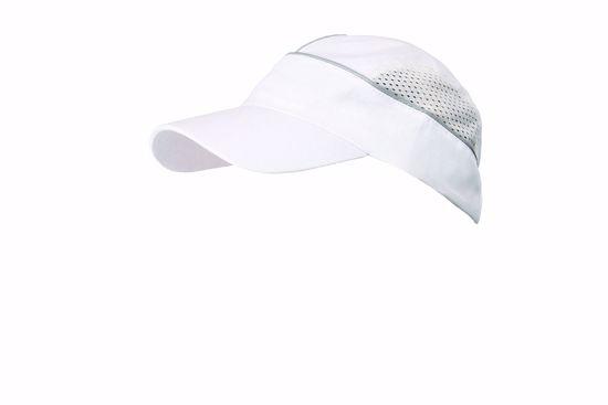 Obrázek ALZETTE čepice stříbrný proužek bílá