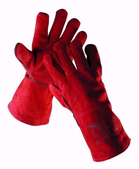 Obrázek SANDPIPER rukavice celokožené, červená