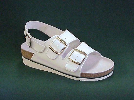 Obrázek Zdravotní dámské sandále korkové dvoupásek s klínkem OB