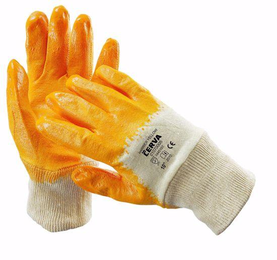 Obrázek z HARRIER rukavice máčené v nitrilu, žlutá
