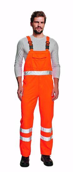 Obrázek KOROS kalhoty s laclem HV žlutá