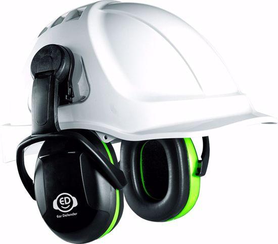 Obrázek z ED 1C sluchátka na přilbu EAR DEFENDER, zelená 25dB