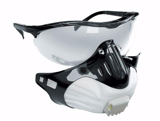 Obrázek JSP FILTERSPEC resp. FFP2 ventillkem otevřené brýle