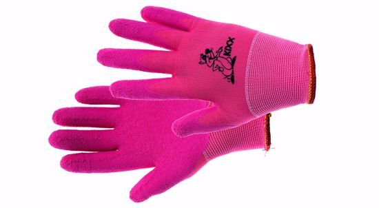 Obrázek LOLLIPOP rukavice nylon. latex. růžová