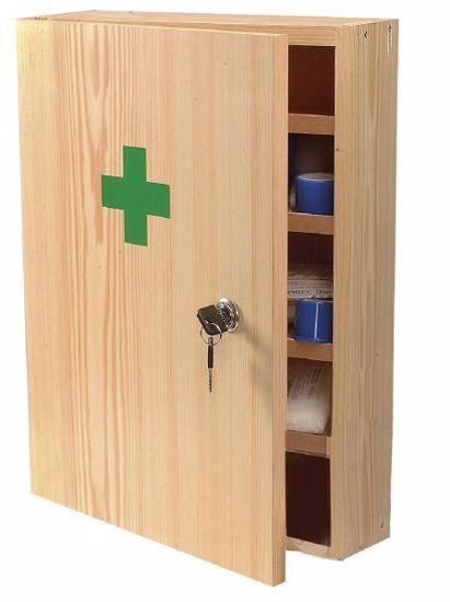 Obrázek z Nástěnná lékárnička dřevěná typ 1, s náplní bez léčiv