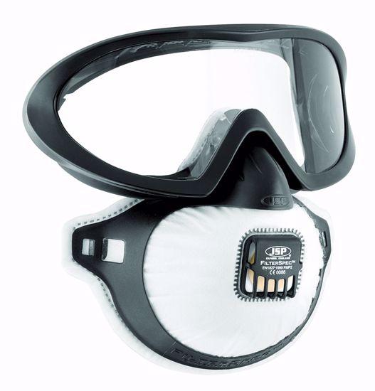 Obrázek JSP FILTERSPEC resp. FFP2 s ventilkem uzavřené brýle