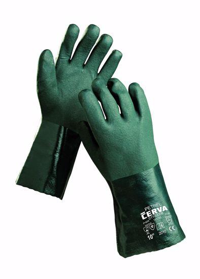 Obrázek PETREL rukavice celomáč v zel. PVC - 10