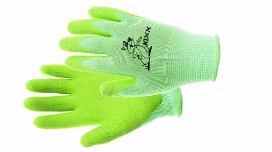 Obrázek FUDGE rukavice nylon. latex. dl zelená