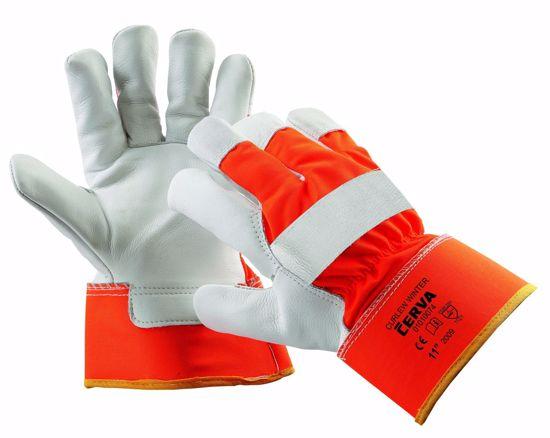 Obrázek CURLEW zimní rukavice HV, oranžová