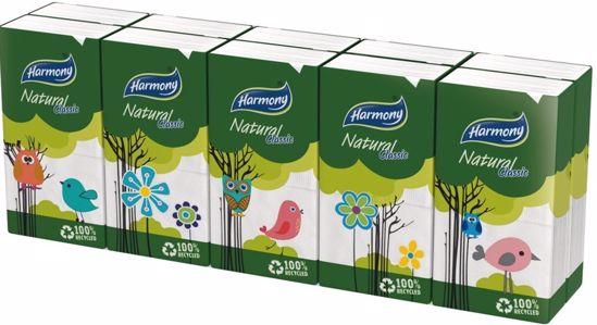 Obrázek Papírové kapesníčky HARMONY NATURAL, 2-vr