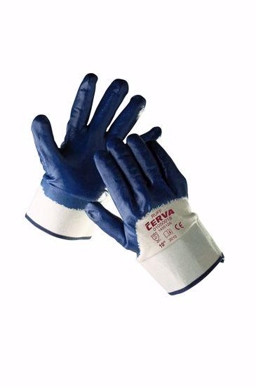 Obrázek RUFF rukavice polomáčené v nitrilu