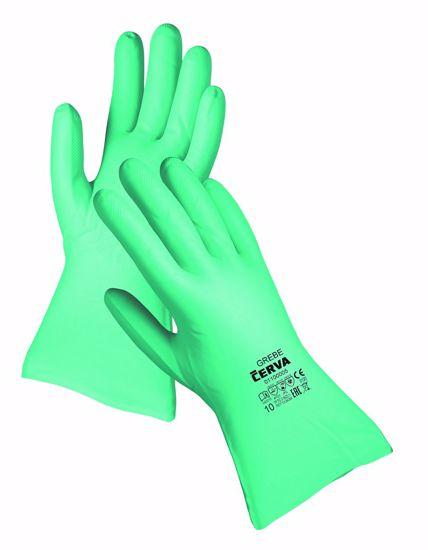 Obrázek GREBE GREEN rukav. nitril zel. 33 cm
