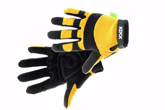 Obrázek BRICK rukavice kombinované žlutá 10