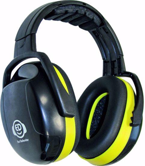 Obrázek ED 2H sluchátka-hlavaEAR DEFENDER yellow