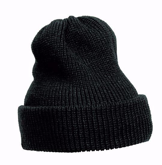 Obrázek AUSTRAL pletená čepice černá 67g