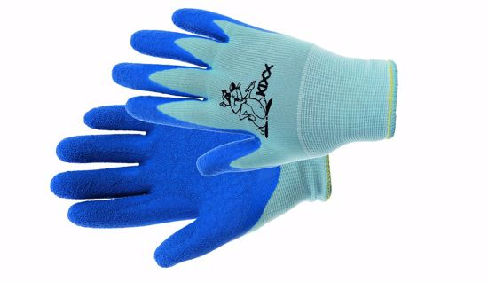 Obrázek CHUNKY rukavice nylon. latex. dl modrá