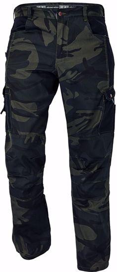 Obrázek CRAMBE kalhoty do pasu kamufláž