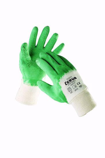Obrázek COOT rukavice máč. v zeleném latexu