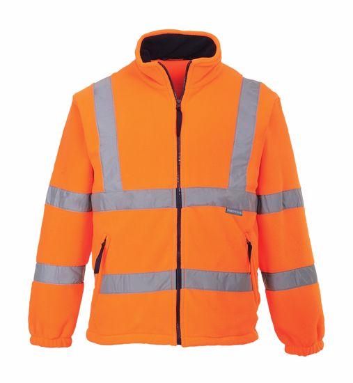 Obrázek Fleece HiVis bunda oranžová XXXXL
