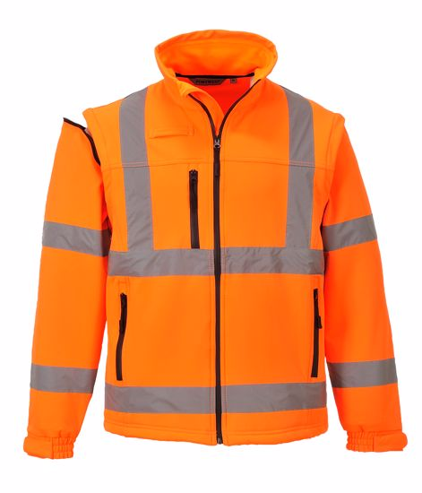 Obrázek Hi-Vis SOftshell Jacket ORANGE -