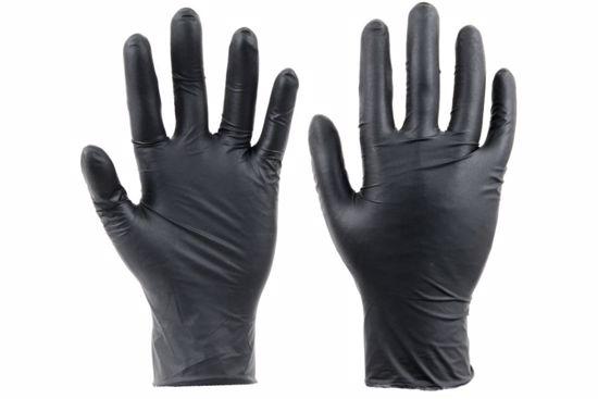 Obrázek z SPOONBILL BLACK jednorázové rukavice nitrové nepudrované