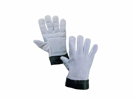 Obrázek Antivibrační rukavice TEMA - ŠTÍPENKA ŠEDÁ celokožené - XL (10)