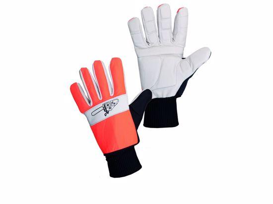 Obrázek Antivibrační rukavice TEMA - PILA oranžová