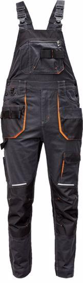 Obrázek EMERTON+ lacl kalhoty antracit/oranž -