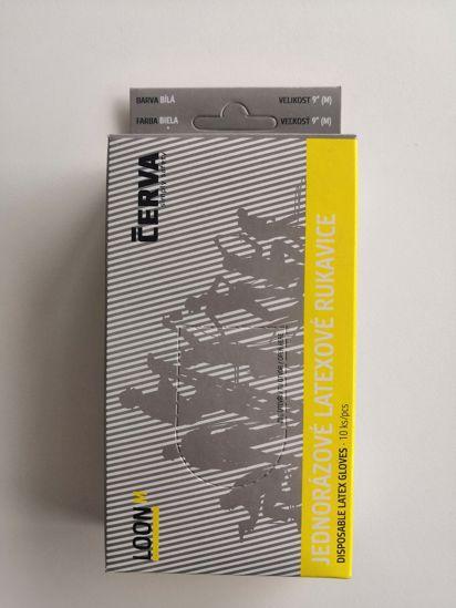 Obrázek LOON latexové rukavice pudrované box 10KS s blistrem